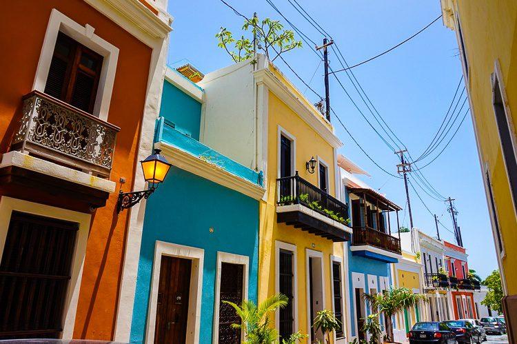 Old San Juan Puerto Rico has colorful paint