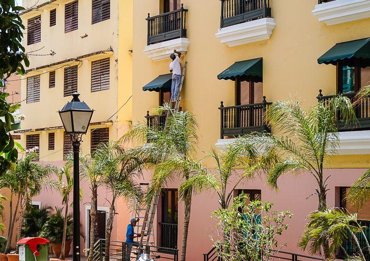 Painting Old San Juan walls