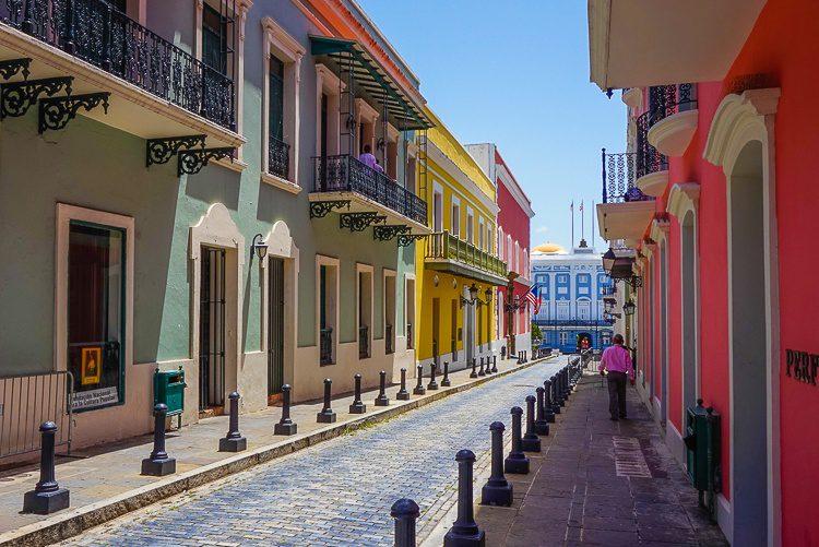 Colorful Old San Juan Puerto Rico street