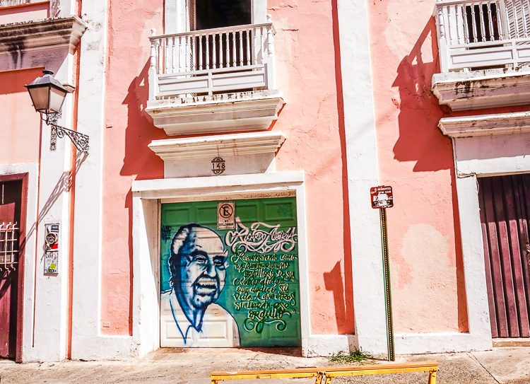 This Old San Juan mural celebrates Ricardo Alegría and the pride he felt for Puerto Rico and instilled in others.
