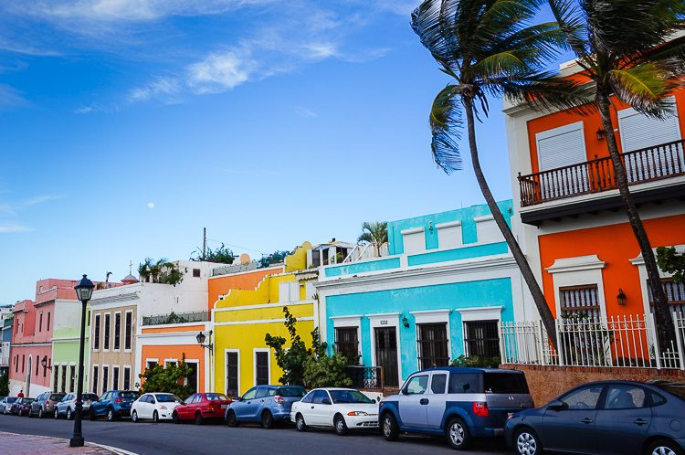 Old San Juan is a rainbow feast of historic architecture.