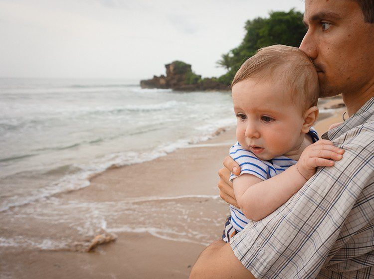 """Baby was NOT so sure about this """"ocean"""" thing at first!"""