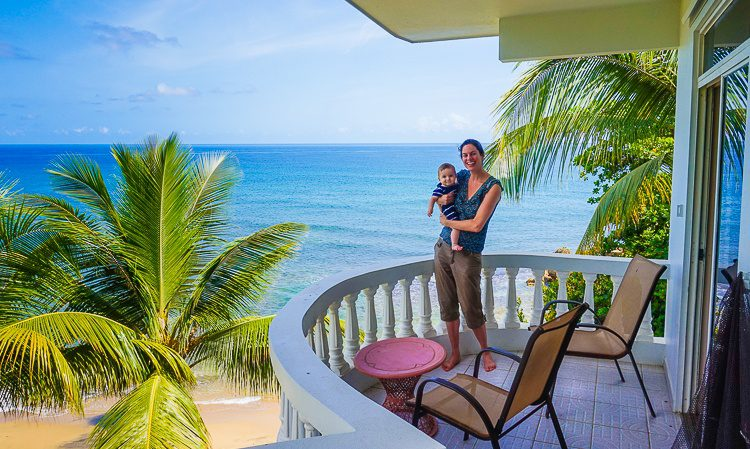 We spent so much happy time on this beach balcony.