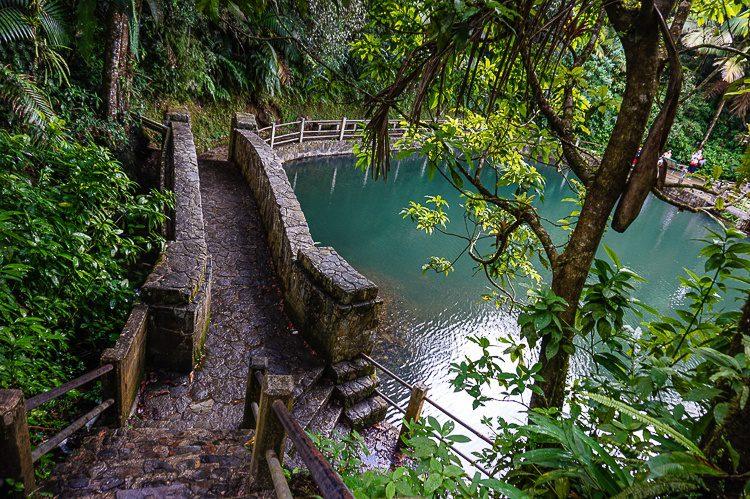Baño Grande has neat stairs.
