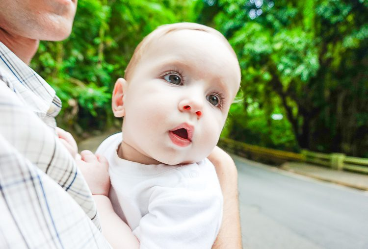 """Our baby was completely entranced by the rainforest. He made this face the whole time. """"Wow!"""""""