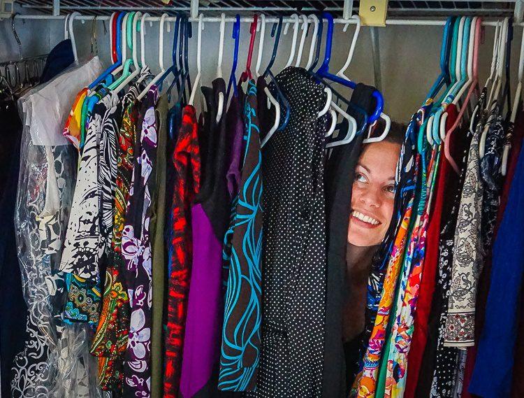 """""""Do you mind if I organize your closet?"""" asked Maria. """"Um, GO AHEAD!"""""""