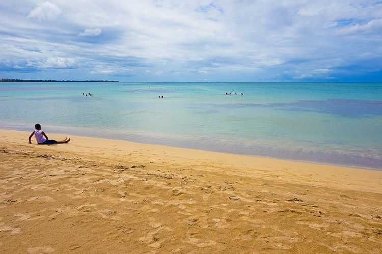 Another view of serene Luquillo swimming beach.