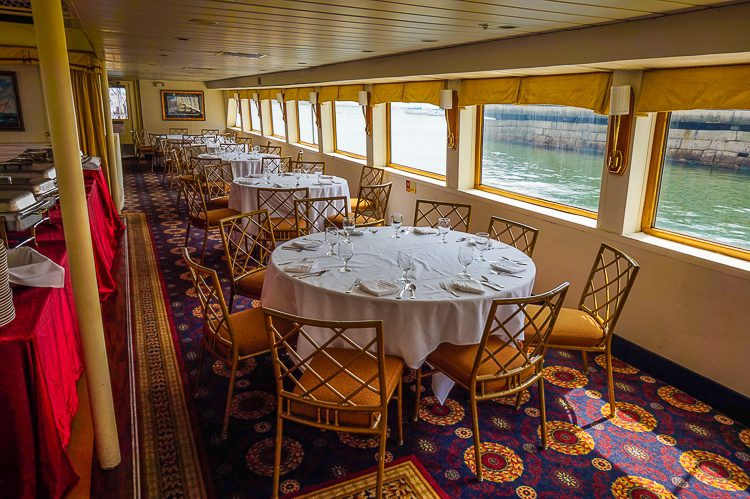 Behold the classy interior of our Brunch Cruise.
