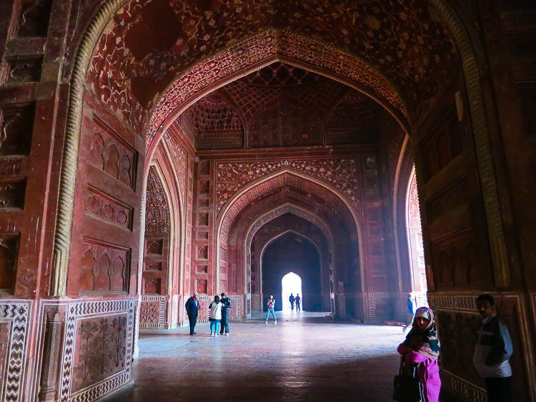 Don't forget about the beautiful side arches leading up to the Taj Mahal.