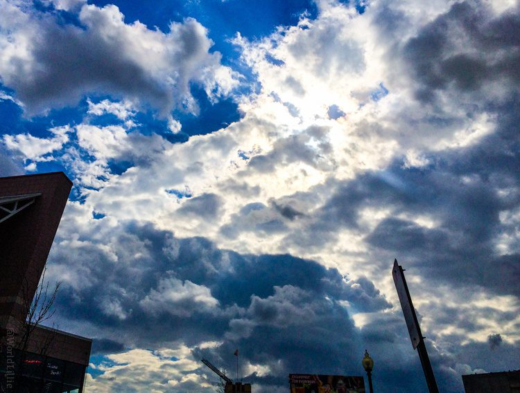 Clouds in Porter Square, Cambridge, MA being awesome.