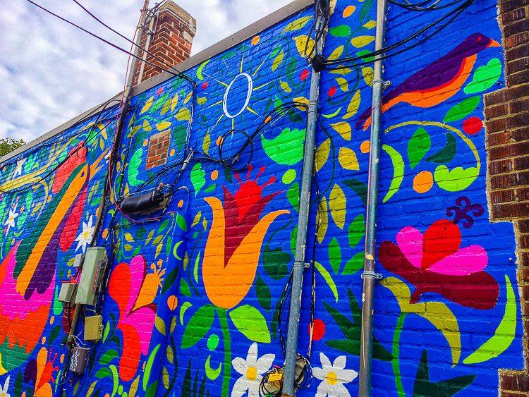 A fun mural in Jamaica Plain, Boston.