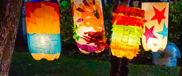 DIY crafts: Colorful lanterns