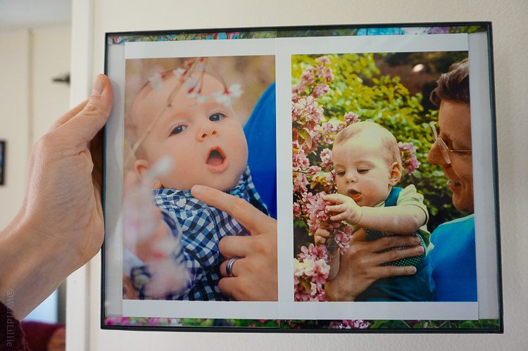 Photo collages can even travel across time, like this one of my son (left) and me (right)!