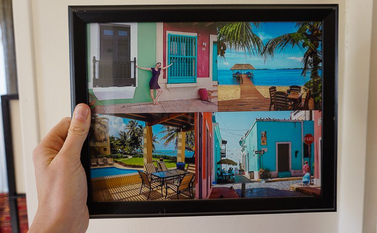 This collage mixes Puerto Rico and Belize.