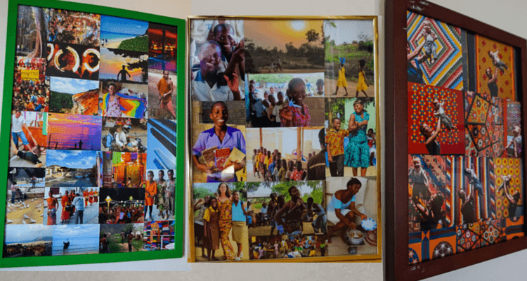 This computer collage shows you three other collages I have around the house now: Ghana, Thailand, and the Quilt Exhibit at the Museum of Fine Arts in Boston.