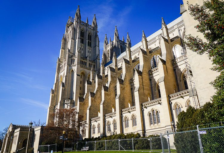 The side of the National Cathedral is excellent.