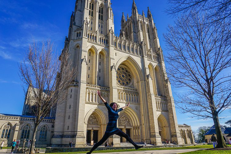 Yay for the National Cathedral and comfy fashion!