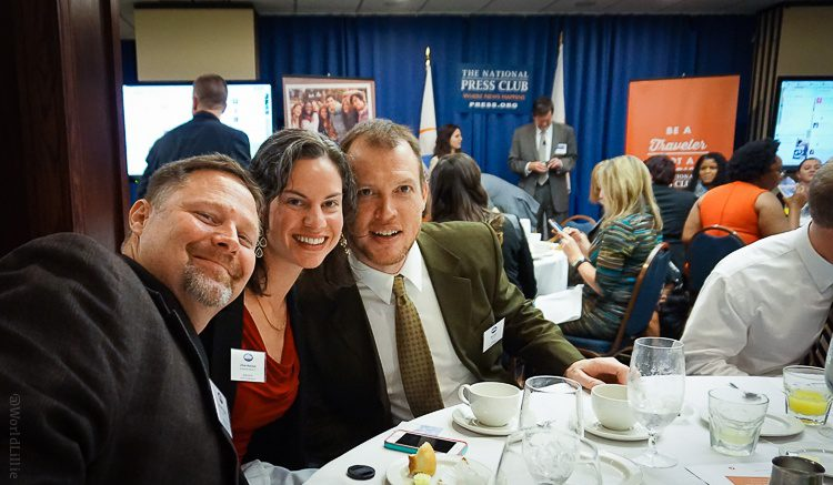 Just hangin' out at the National Press Club with two of the top names in travel: Rolf Potts and Rick Calvert!