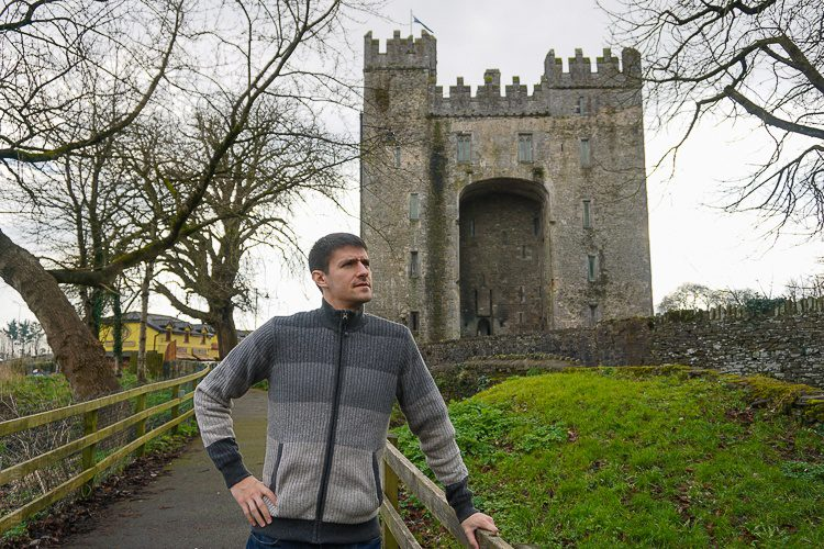 Looking handsome in prAna fashion at Bunratty Castle, Ireland.