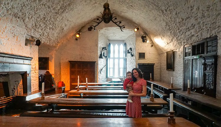 """Inside the """"Main Guard"""" of Bunratty Castle."""