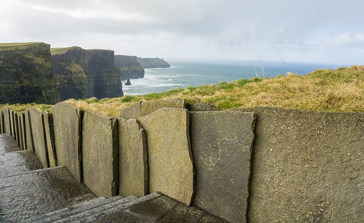 Isn't it great how the stair railing mirrors the cliffs?