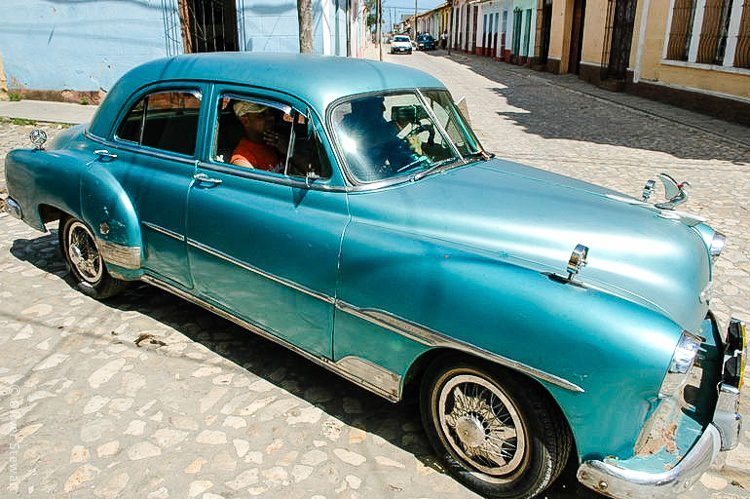 One of Cuba's iconic old-fashioned cars.