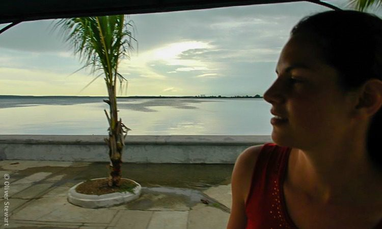 Me, loving the waterfront of Cienfuegos, Cuba.