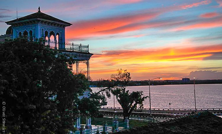 Cienfuegos, Cuba at sunset: Gorgeous.