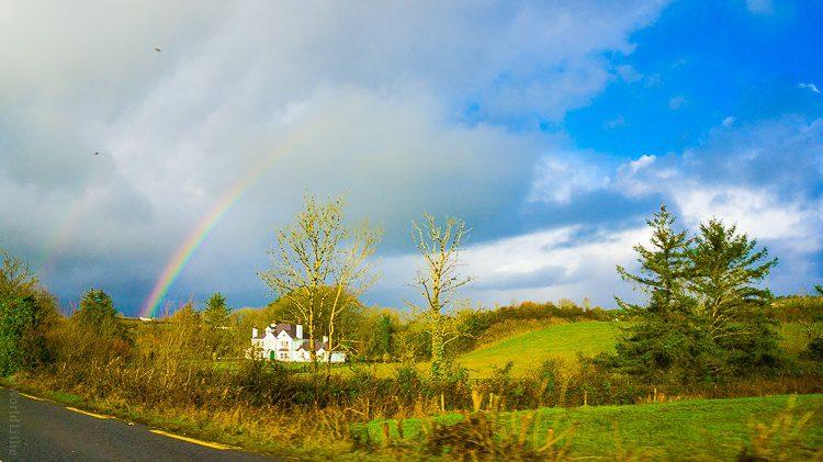A double rainbow across the sky in Ireland!