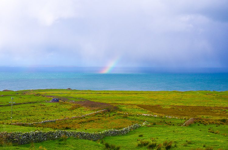 One of many rainbows we spotted on the Wild Atlantic Way, Ireland!