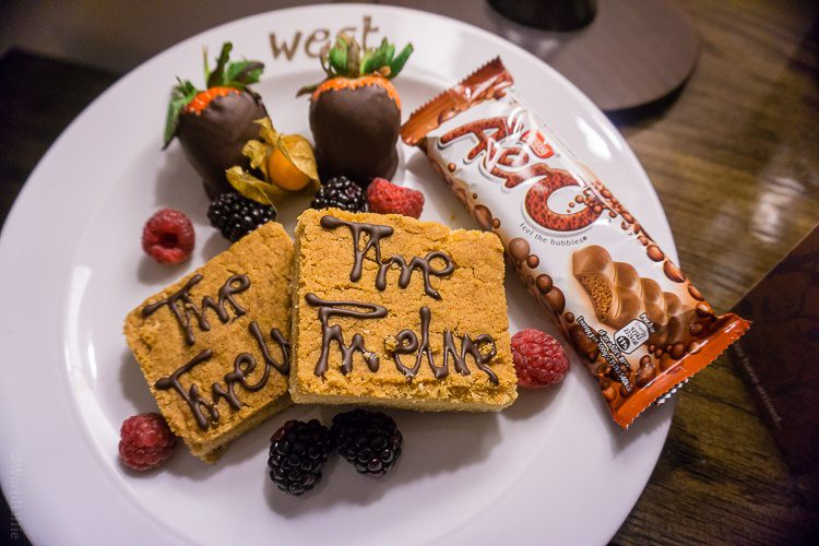 Our yummy welcome plate in our room at The Twelve Hotel in Ireland.