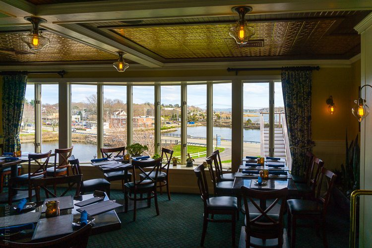 Isn't this a delightful dining room and view?