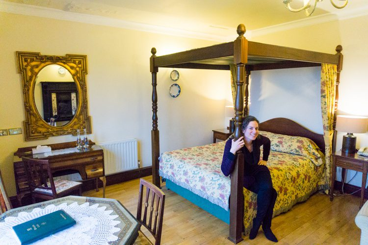 Canopy bed in Ireland castle hotel