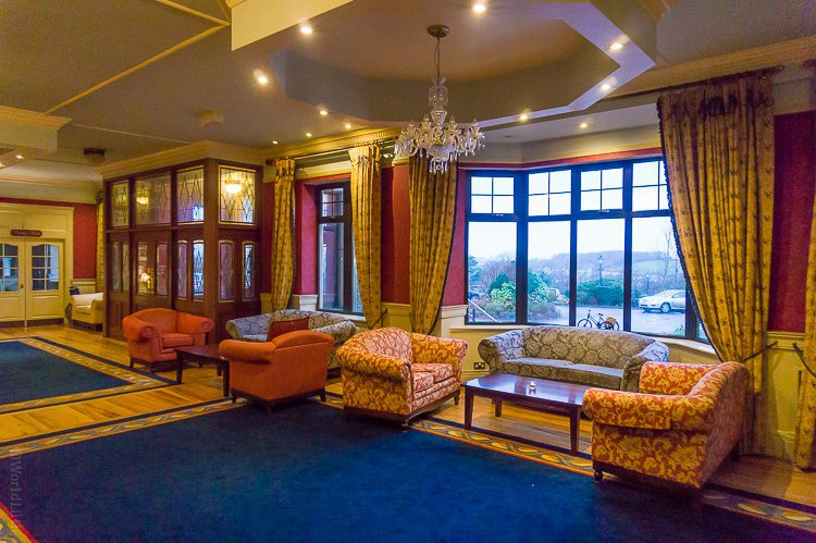 The inviting main lobby of Knockranny House Hotel.