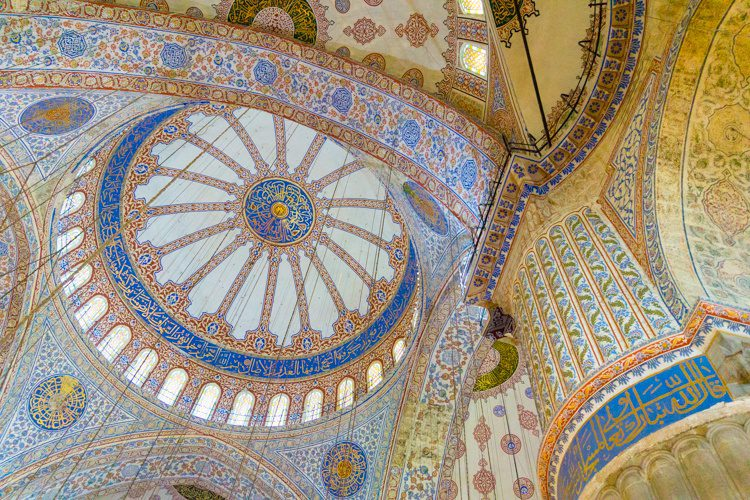 Imagine how much time the Blue Mosque's decorations took to create.