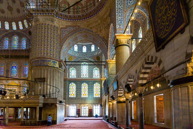 The magnificent way we entered the mosque.