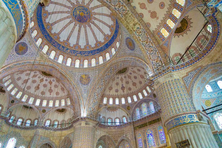 I can't get over the beauty of the Blue Mosque's ceiling.