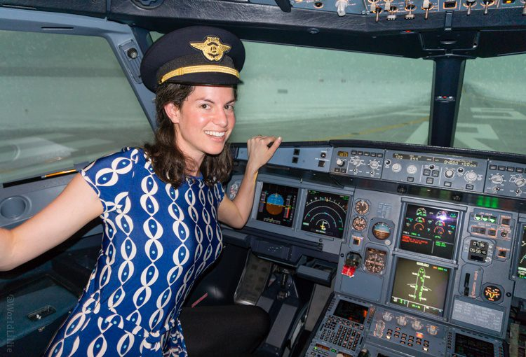 In the Turkish Airlines flight simulator where their pilots are trained!