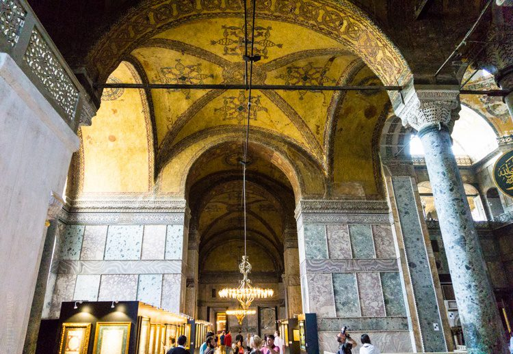 Each corner of the Hagia Sophia has different shapes.