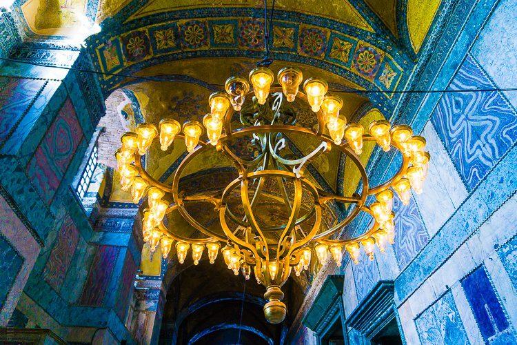 Hagia Sophia chandeliers