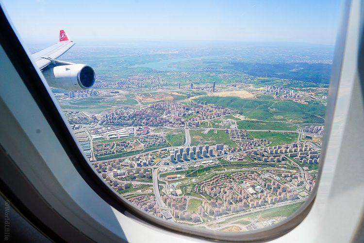 My view of the outskirts of Istanbul on my Turkey flight.