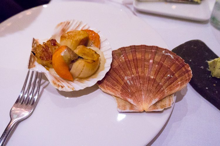 Scallops on a shell!