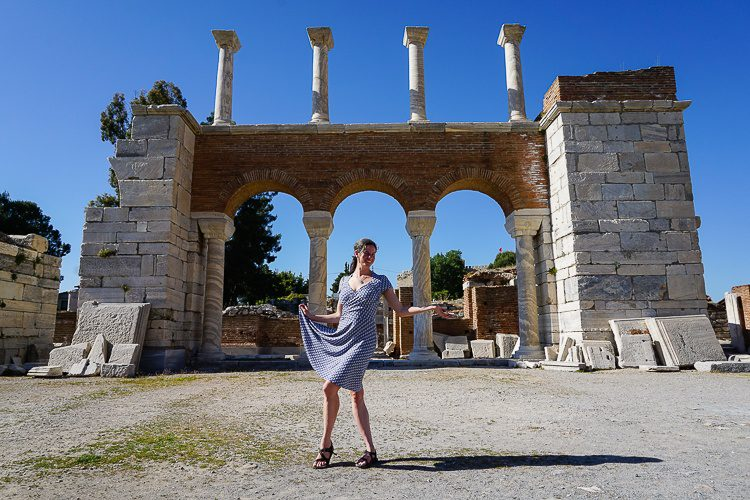 The ancient ruins of the Basilica of St. John in Selcuk pair well with a flowing skirt.