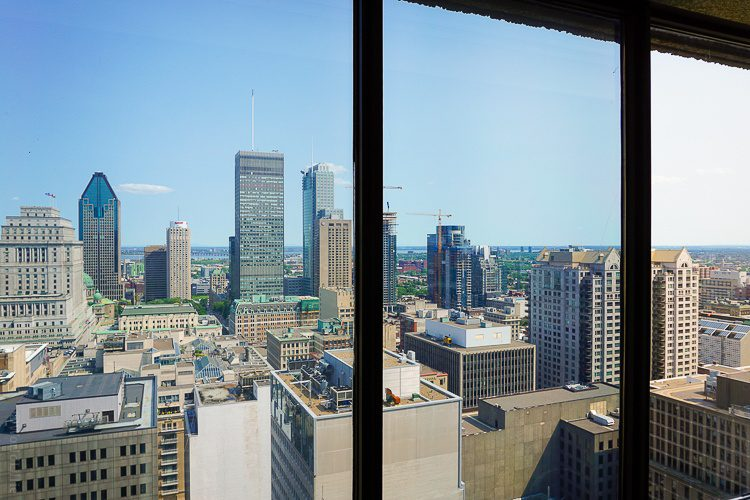 A mighty view of Montreal from our Omni hotel room.