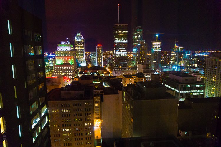What a view of Montreal from our Omni Hotel room!