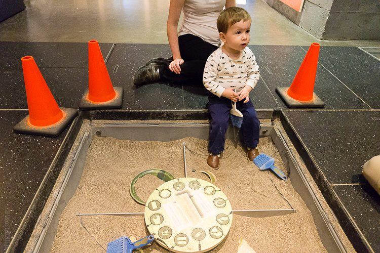"""In the Montreal Archaeology Museum, kids can dig for """"artifacts!"""""""