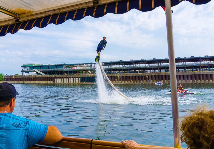 If you're adventurous, you can fly with water jetpacks!