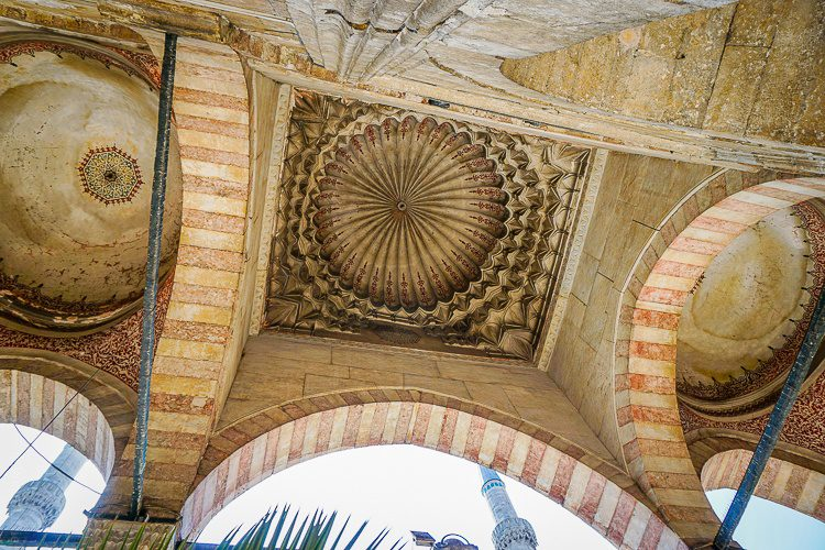 """What you see, looking up at the entrance of the """"New Mosque."""""""