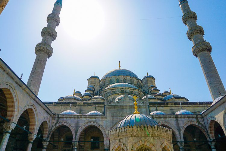 """""""New Mosque"""" outside the Spice Market Istanbul"""