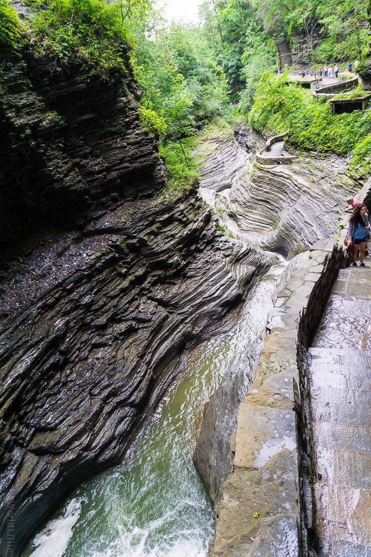 Watkins glen gorge and river